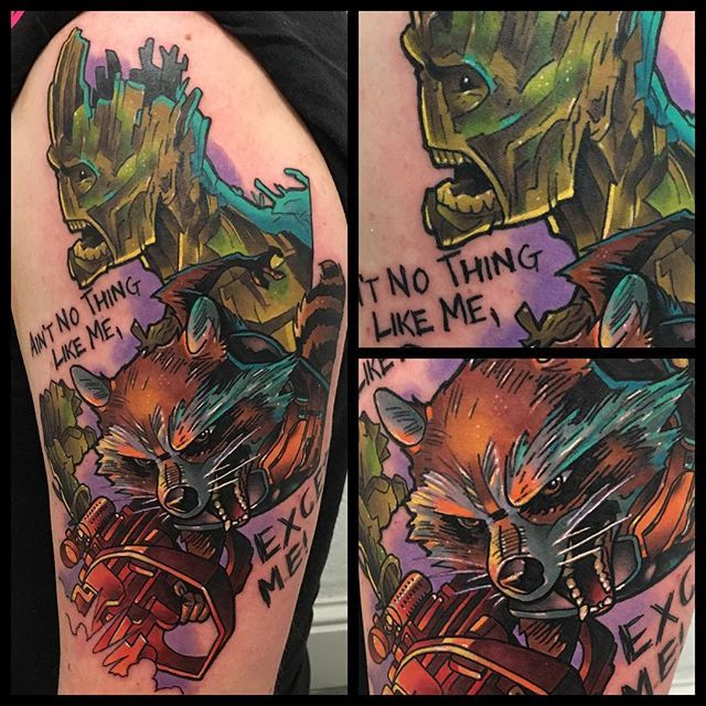 Rocket Raccoon And Groot From Guardians Of The Galaxy
