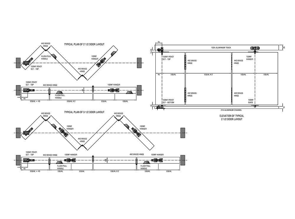 Sliding Door Track Diagram