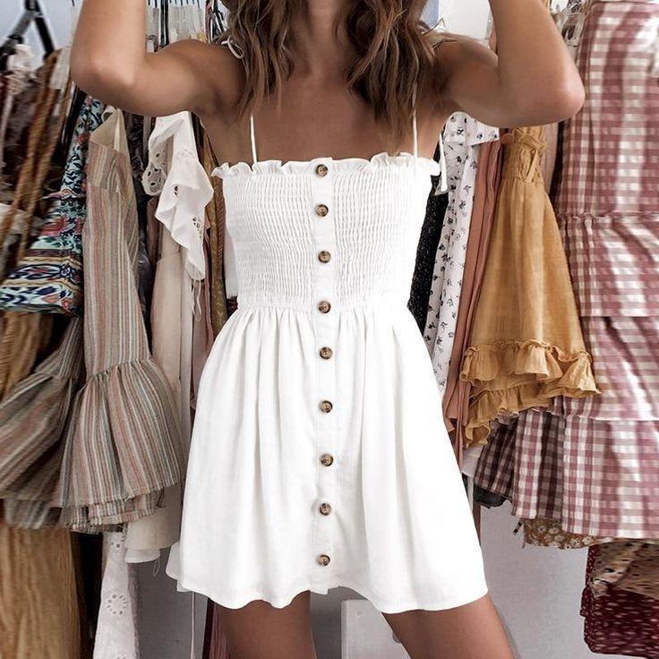 Photo of Marissa Button Down Boho Dress