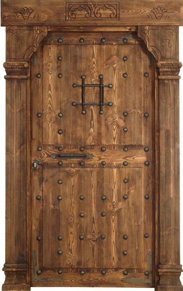 Puerta rustica con marco resaltado y tabla enrasada - Puerta rustica exterior ...