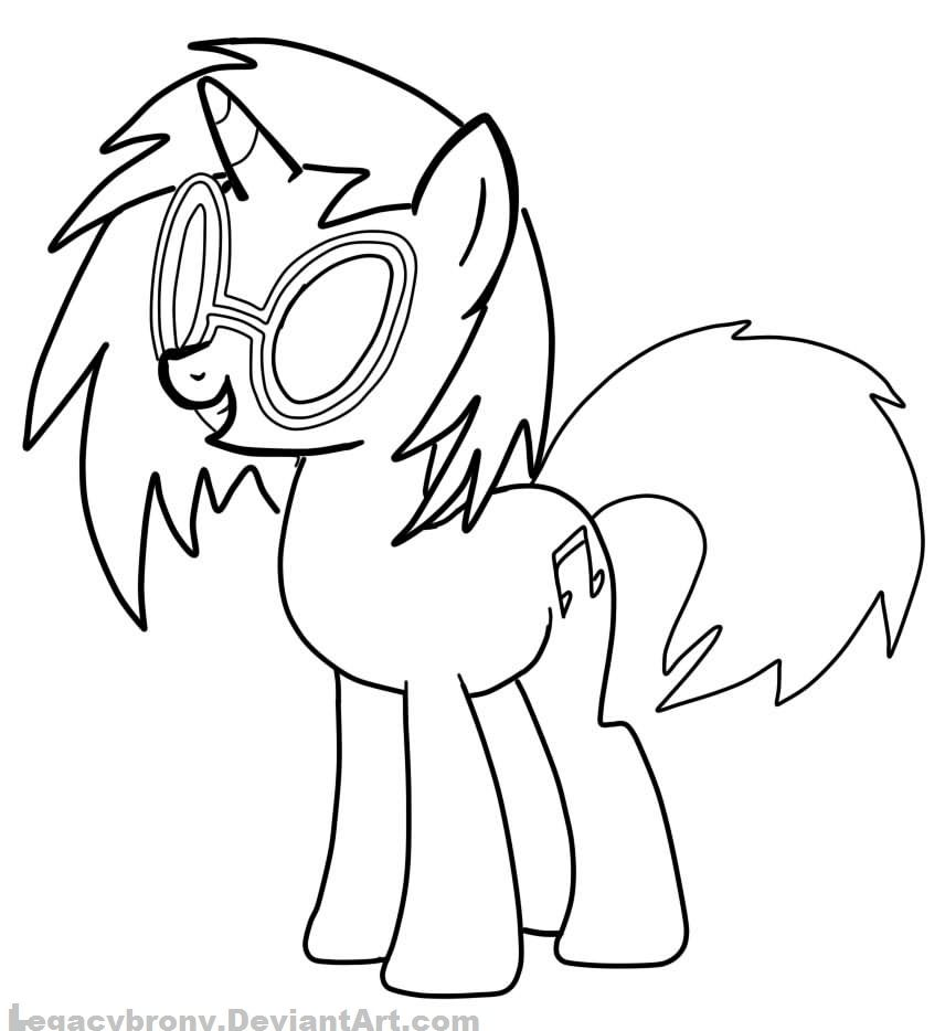 Mlp coloring pages dj pon 3 - Pony My Little Pony Dj Pon Coloring Pages