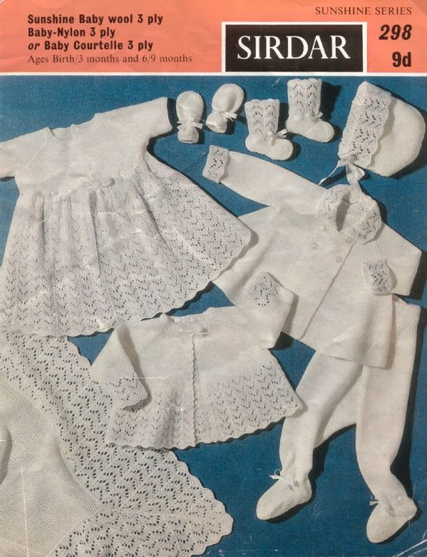 55994f504 Sirdar 298 Baby Layette  a sweet old fashioned white layette ...