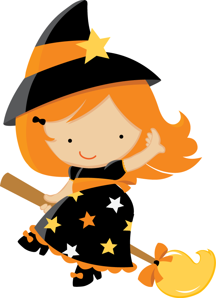 HALLOWEEN BABY WITCH CLIP ART  Stop by my Etsy Shop: www.etsy.com/shop/TeoldDesign
