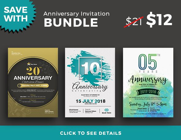 Anniversary invitation anniversary invitation flyer template you can use this template in multipurpose way like corporate stopboris Gallery