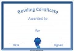 Blue bowling award certificates pinterest certificate sports a variety of free printable bowling certificate templates many more free sports awards and award certificates on this site yadclub Choice Image