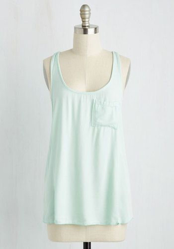 Pho What It's Worth Top in Aqua, @ModCloth