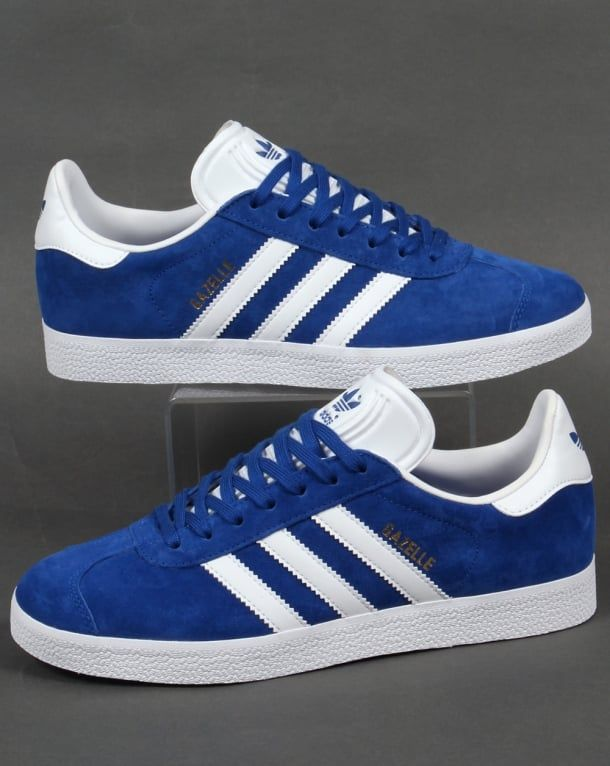 051dd7e37e0a Adidas Gazelle Trainers Royal Blue White