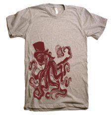 mens otto the octopus tshirt