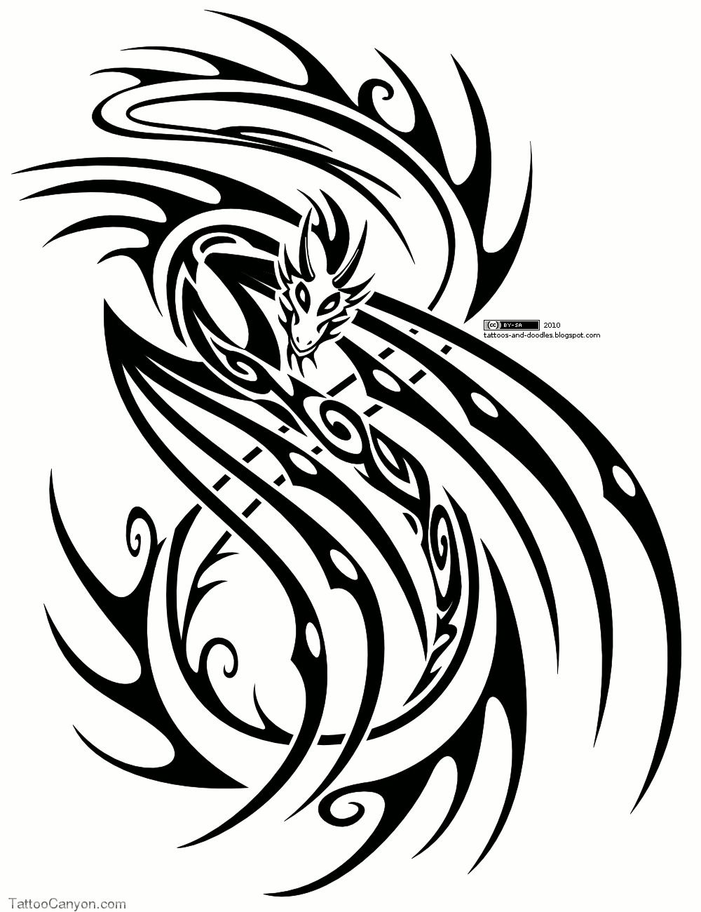 Dragon Tattoo Design Free Download 7350 Tribal Picture 11561 Tribal Dragon Tattoos Tribal Tattoos Tribal Tattoo Designs