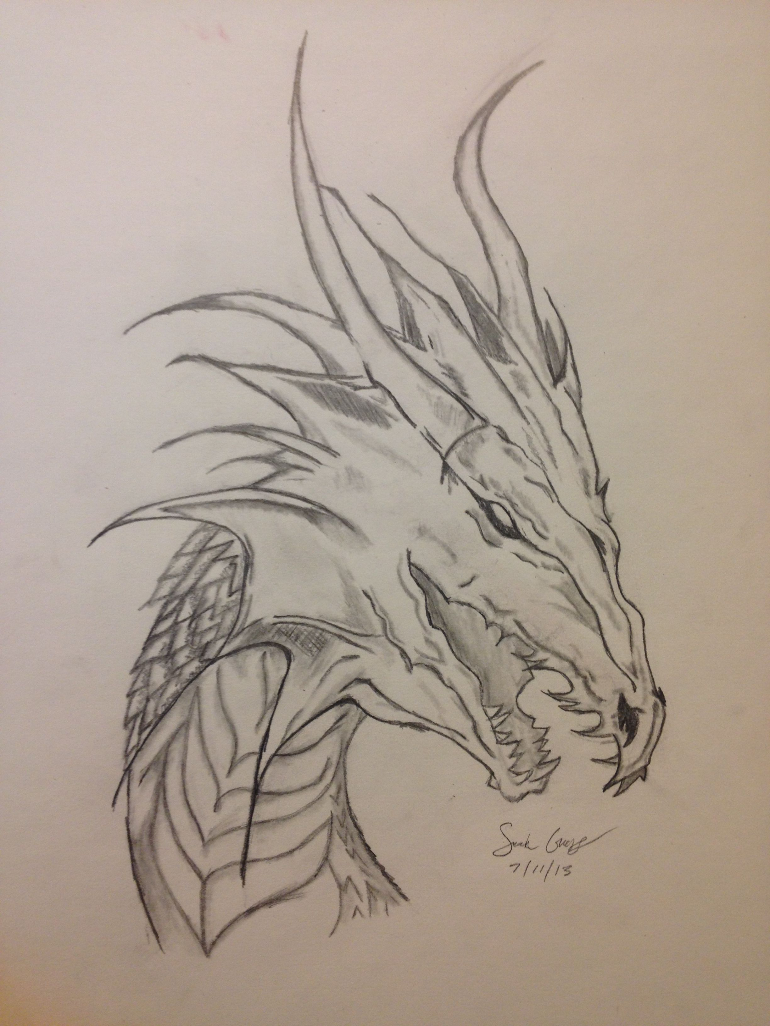 Dragons are the coolest things to draw