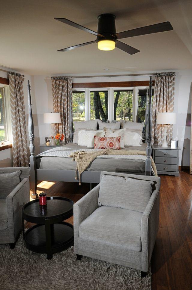 ideen schlafzimmer vorhänge zick zack muster beige Hausbau - ideen schlafzimmergardinen vorhange