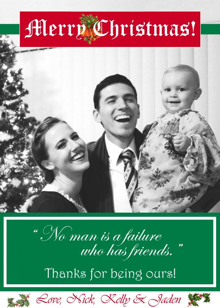 Christmas Card It's A Wonderful Life Merry Little