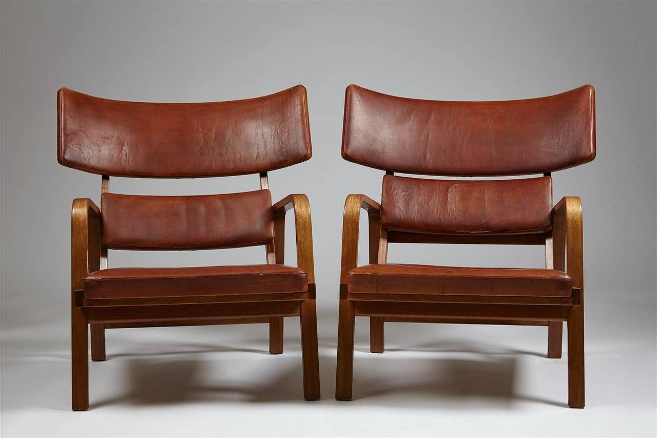 Armchairs designed by Magnus Stephensen, Denmark. 1963 | From a unique collection of antique and modern lounge chairs at https://www.1stdibs.com/furniture/seating/lounge-chairs/