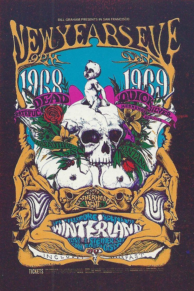 Grateful dead 1968 san francisco rock posters concert