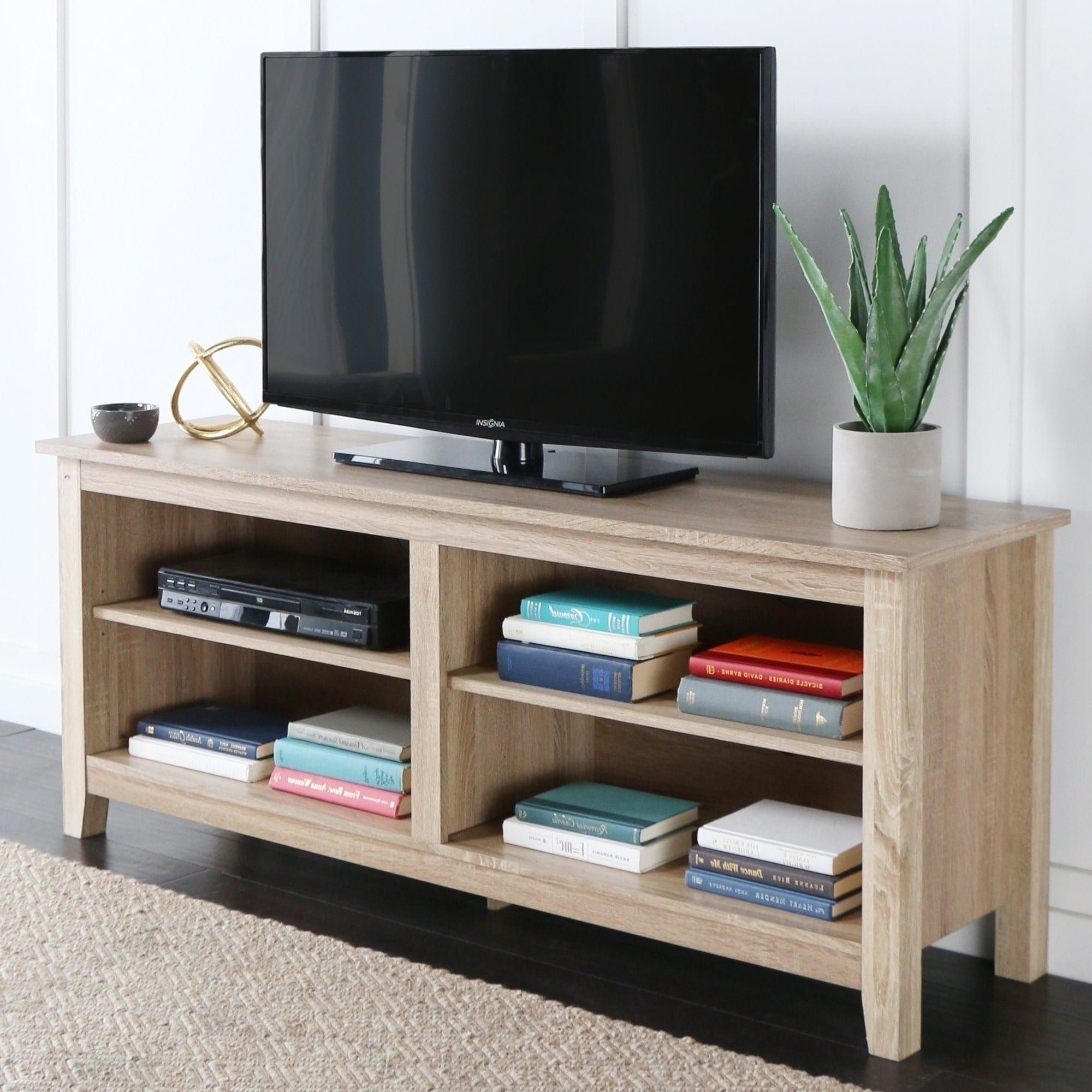 Havenside home jacksonville inch natural wood tv stand inch