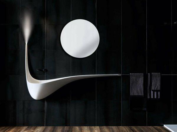 Charmant Architektonisches Waschbecken Design Mit Dynamischer Flügelform  #architektonisches #design #dynamischer #flugelform #waschbecken