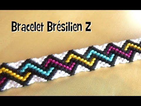 Bracelet brésilien de l'été : Motif Z (avancé) | Bracelets de l'amitié, Bracelet brésilien tuto ...