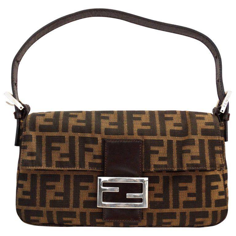 Fendi Monogram Baguette Shoulder Bag