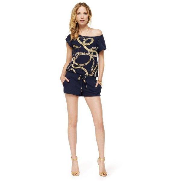 Juicy Couture Romper In Chain Link Fleece ($65)