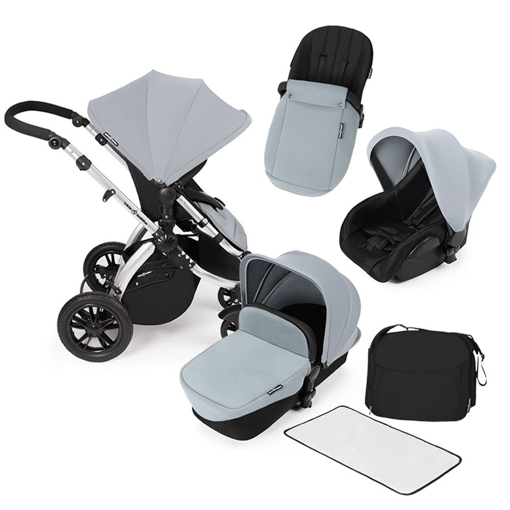 Ickle Bubba Stomp V2 All In One Travel System In Silver Kiddicare  # Muebles Ros Bubua