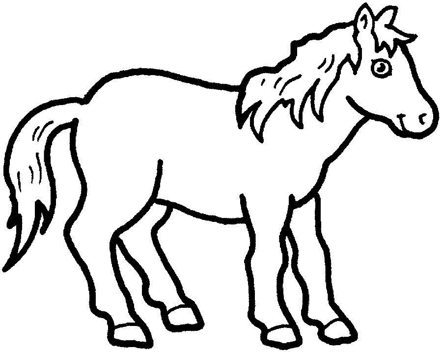 Dibujos para Pintar Colorear. Animales Caballos 14   Fiestas de 15 ...