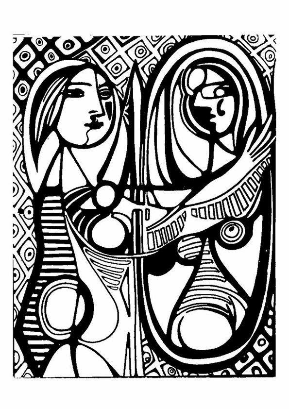 Pintores Famosos Pablo Picasso Para Ninos Cuadros Para Colorear Caricaturas Y Fotos De Picasso Video Cu Arte De Picasso Ilustraciones Famosas Obras De Arte