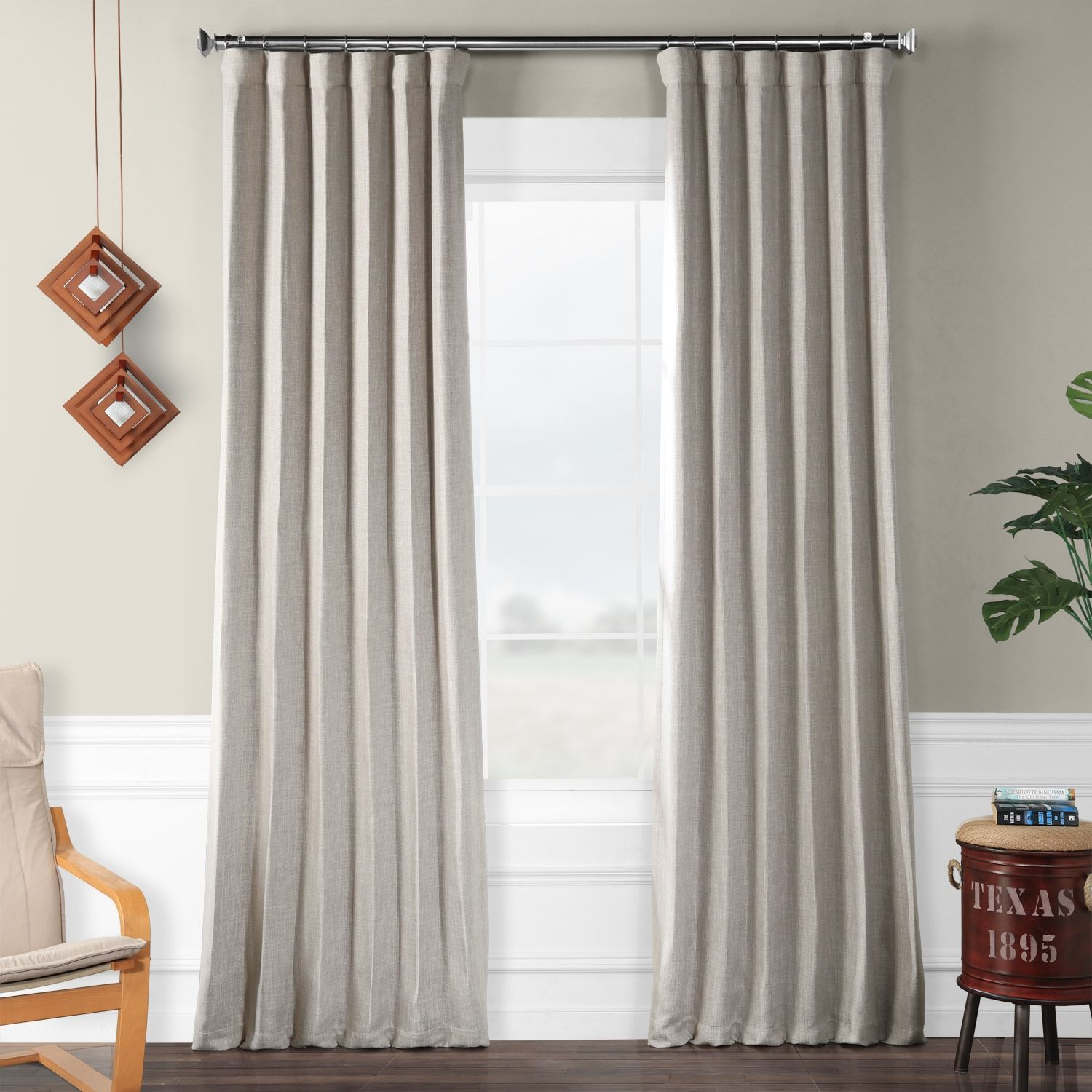 Clay Faux Linen Blackout Room Darkening Curtain In 2020 Panel
