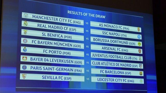 Hasil Drawing Babak  Besar Liga Champions Musim