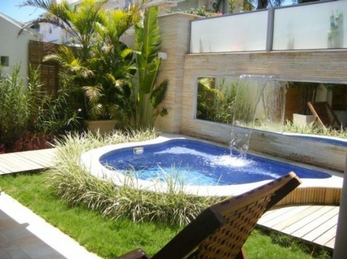 Wie wirkt ein schöner Garten? Hier sind 50 Beispiele! | kleiner Pool ...
