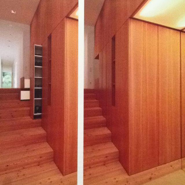 Garderobe #furniture #wood #stair #staircase #stairs