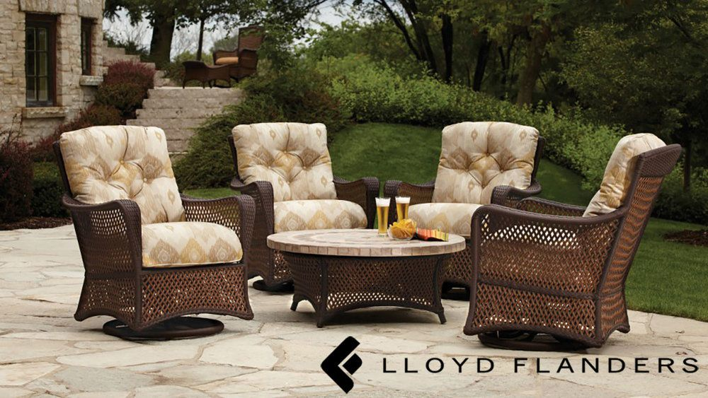 Comfy Wicker Patio Seating Set From Lloyd Flanders Available At Oregon S Largest Furniture Showroom