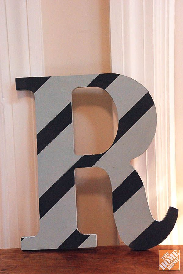 Diy Gift Ideas Decorated Wooden Letters  The Home Depot