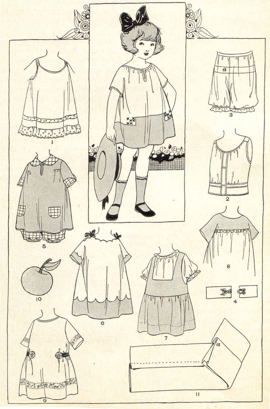 vintage sewing pattern. I think I may still dress my kids like this ...