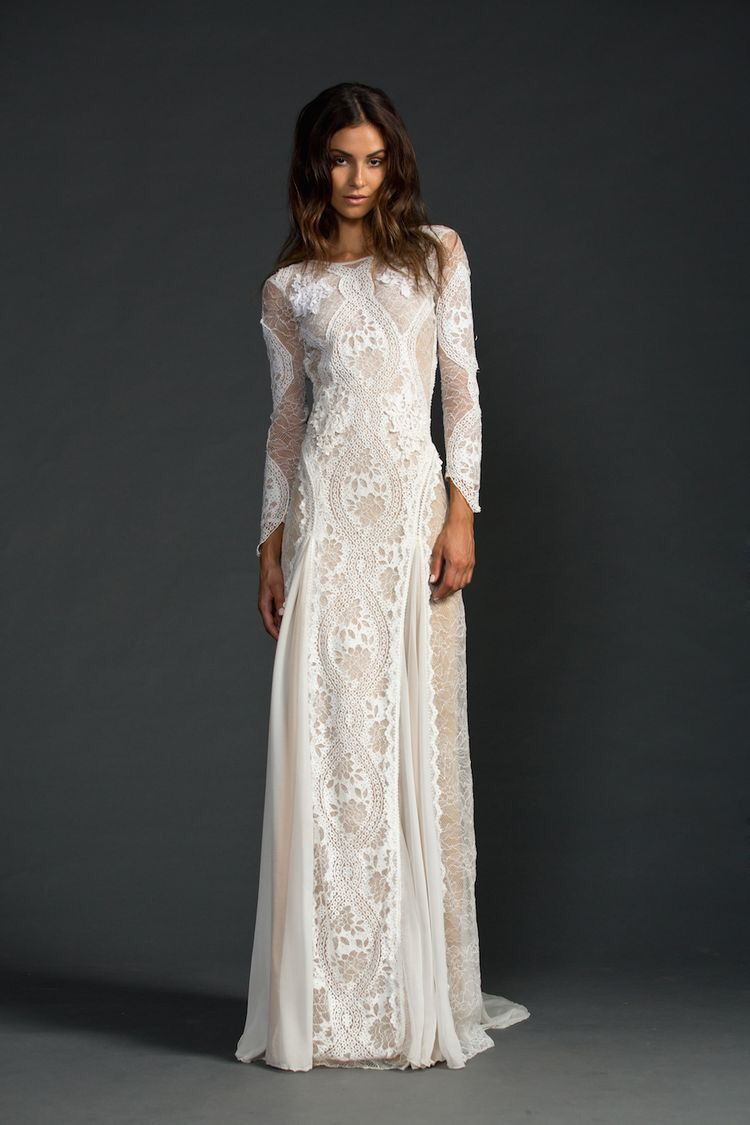 Lace bohemian wedding dress  lace wedding dress in love  Wedding  Pinterest  Lace wedding