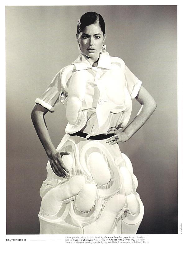 #22 Blonde Ambition-- Doutzen Kroes wearing Comme Des Garçons & Coco ring by Chanel