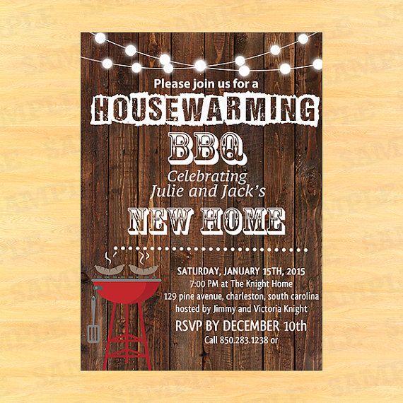 Housewarming Bbq Invite Invitation Templates