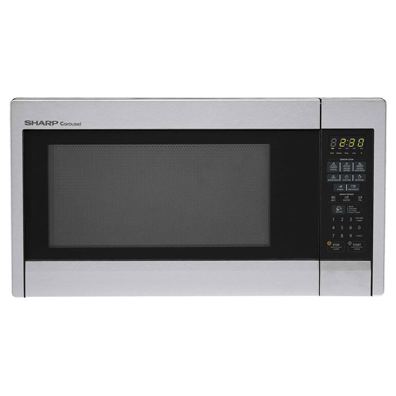 Sharp 1 3 Cu Ft Countertop Microwave Stainless Steel