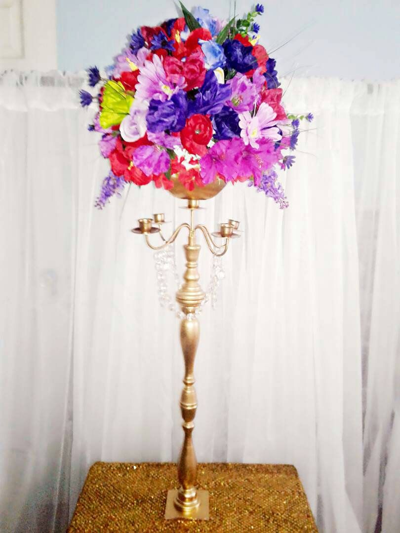 Candelabra/5 Taper Candelabra/Wedding Centerpiece for Table/Candle ...