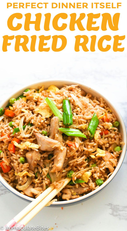 Chicken Fried Rice Easy Friedrice Recipes Chickenrecipes Best Dinnerideas Chicken Fried Rice Recipe Chicken Fried Rice Fried Rice