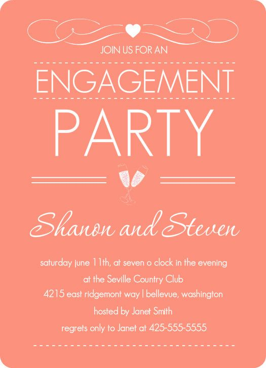 Elegant Dusty Rose Engagement Party Invite Free Engagement Party Invitations Printable Engagement Party Invitations Engagement Invitation Template
