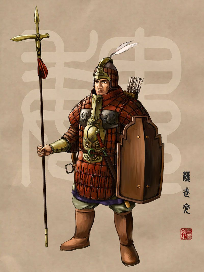 Qin Warrior | Lands of Gaabar in 2019 | Chinese armor, Ancient china