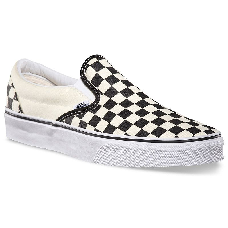 Vans Classic Slip-On shoes. The original waffle bottom slip on skate shoe  that started it all since Forever imitated, never duplicated.