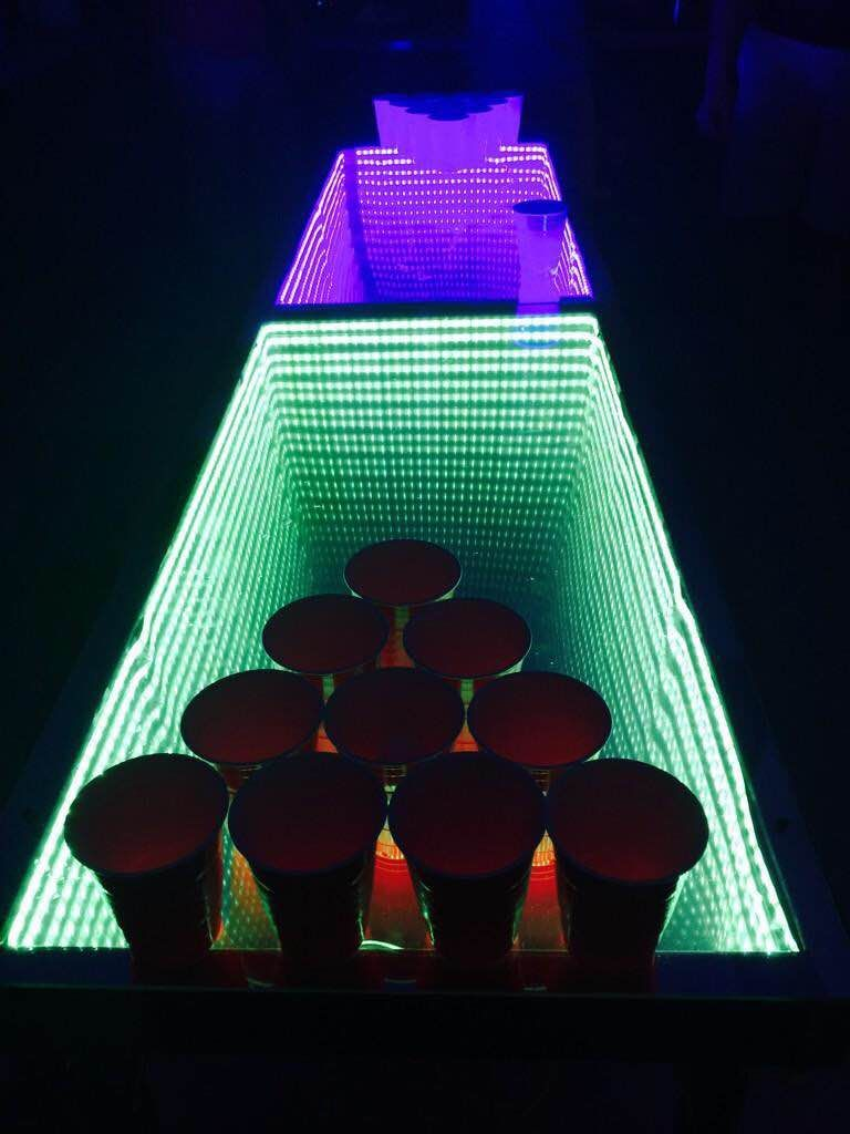 Homemade beer pong table - Diy Infinity Beer Pong Table