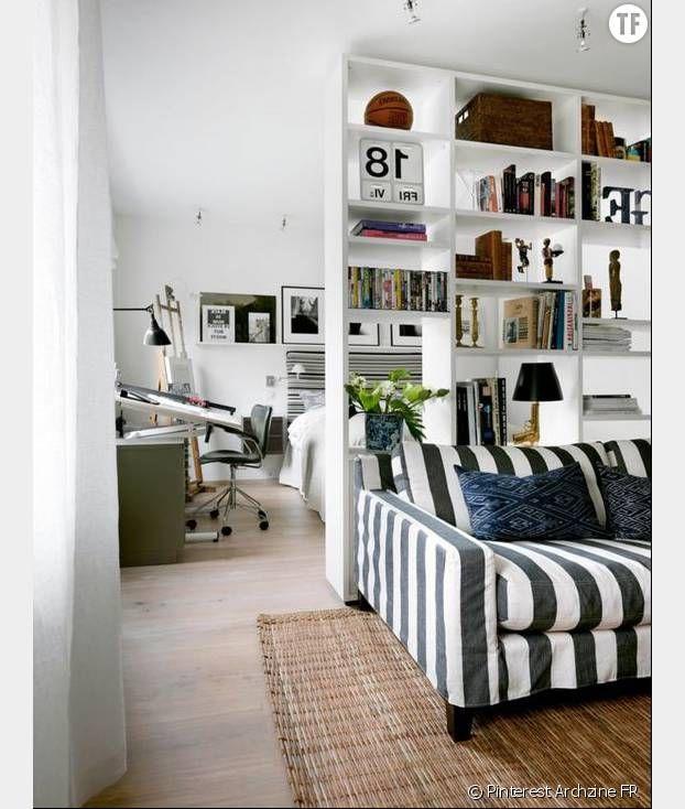 8 astuces magiques pour agrandir un petit appartement d w e l l coin chambre separateur de. Black Bedroom Furniture Sets. Home Design Ideas