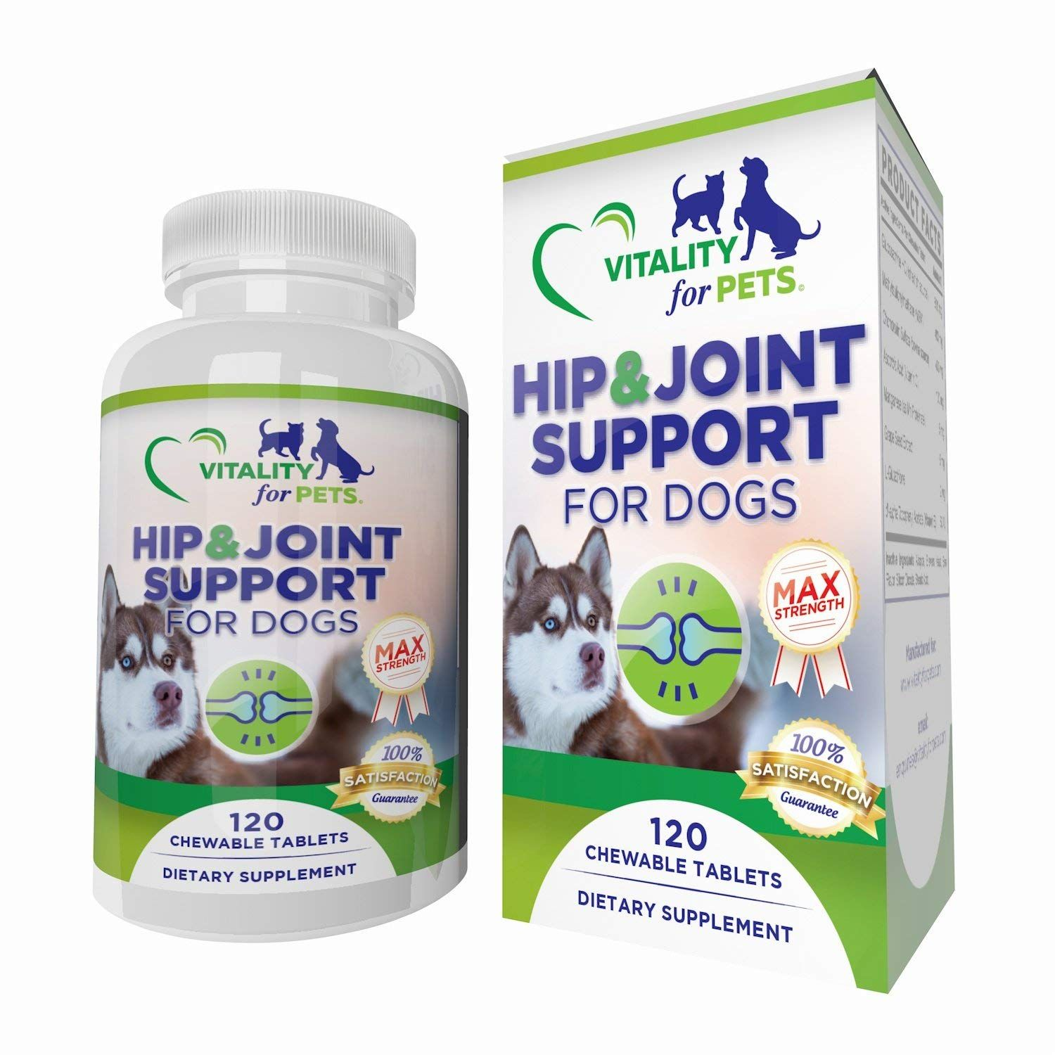 Max Strength Hip And Joint Support For Dogs 120 Chews 1700mg Of Premium Blend Glucosamine C Joint Support Supplements Glucosamine Chondroitin Msm Dog Vitamin