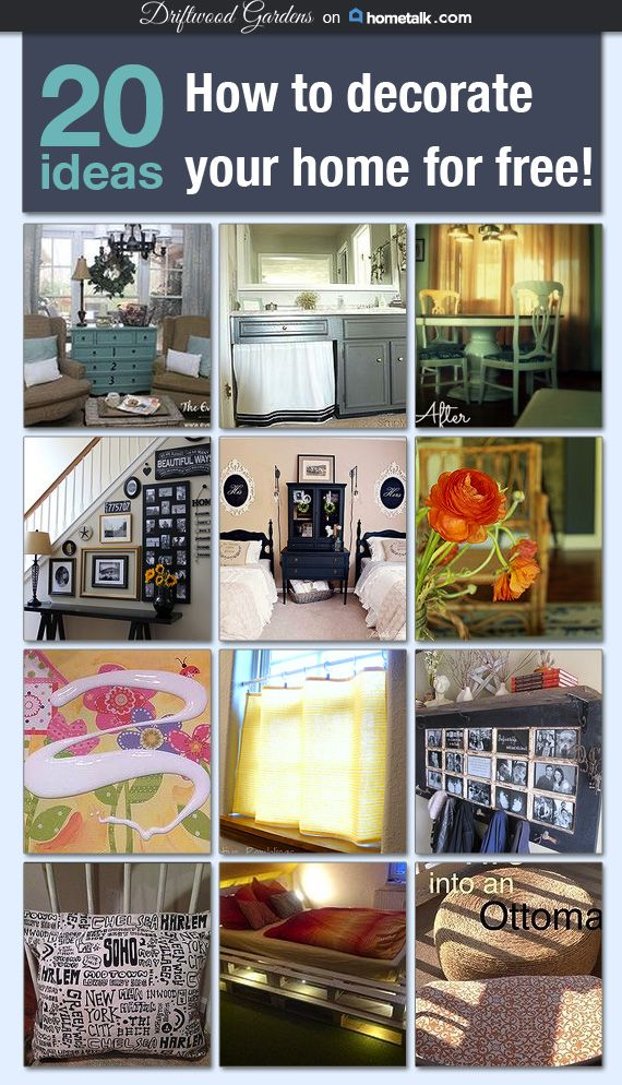 20 fabulous and (almost) free decor ideas