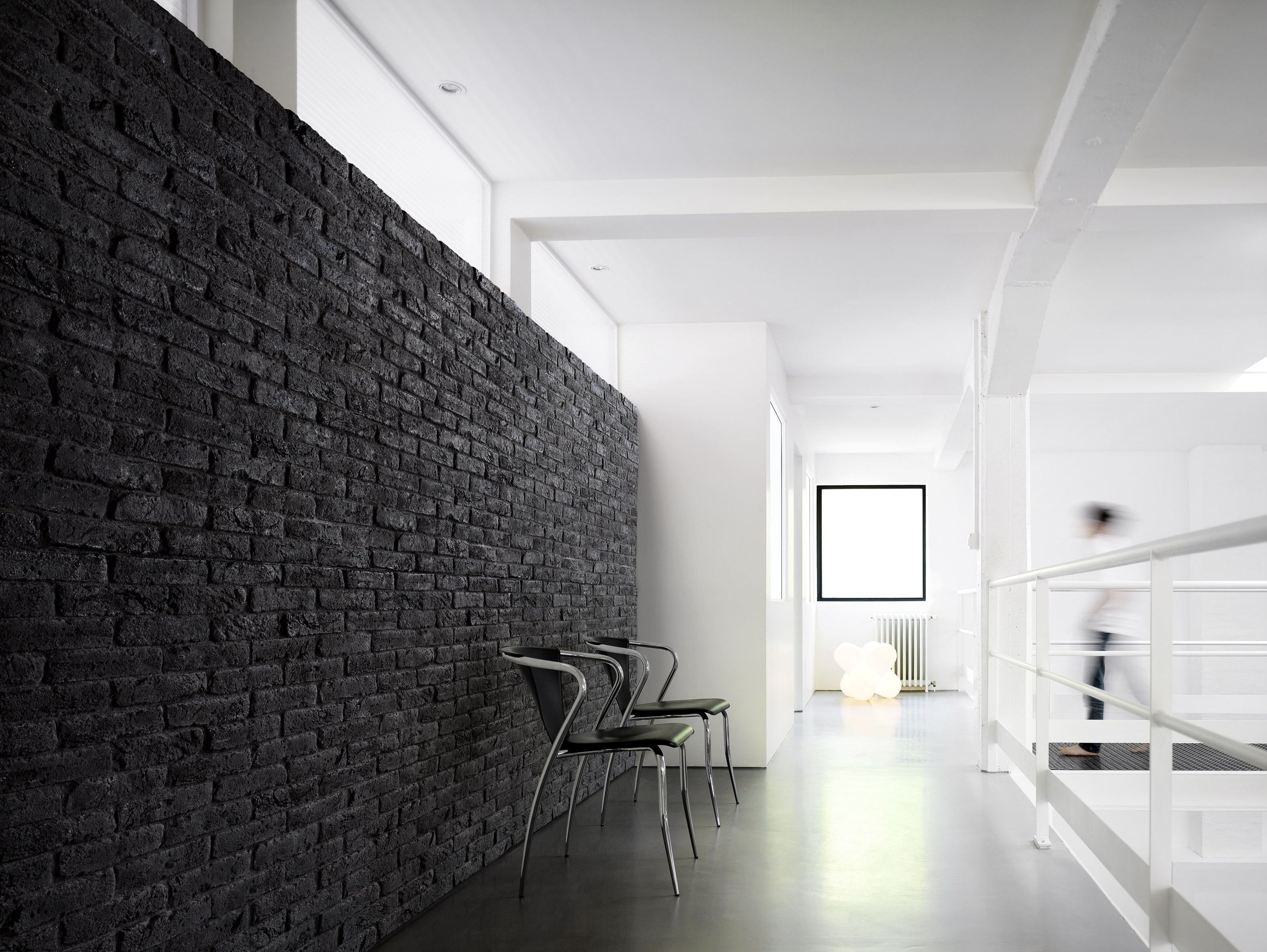 Reconstructed Stone Wall Tiles Brique Black White By Orsol