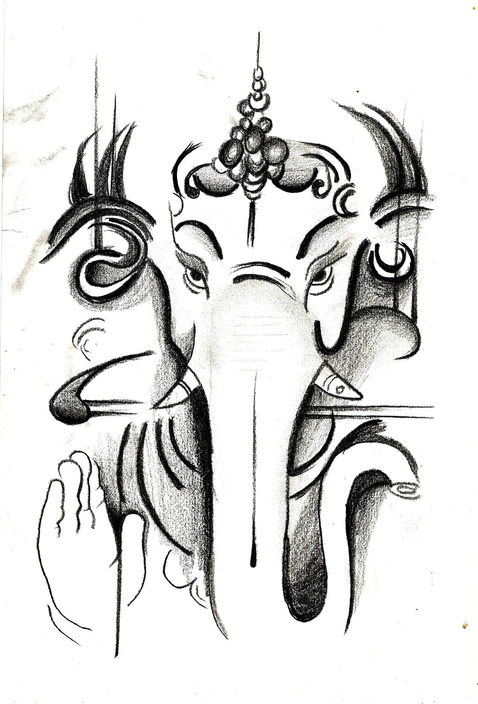 Excited To Share The Latest Addition To My Etsy Shop Lord Ganesh Https Etsy Me 2xxbuor Art Ganesh Art Portraiture Art