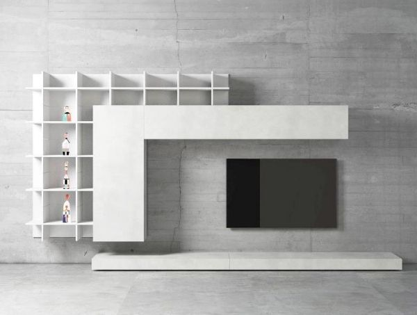 Wohnwand weiß minimalistisch tv | Minimal Art | Pinterest ...
