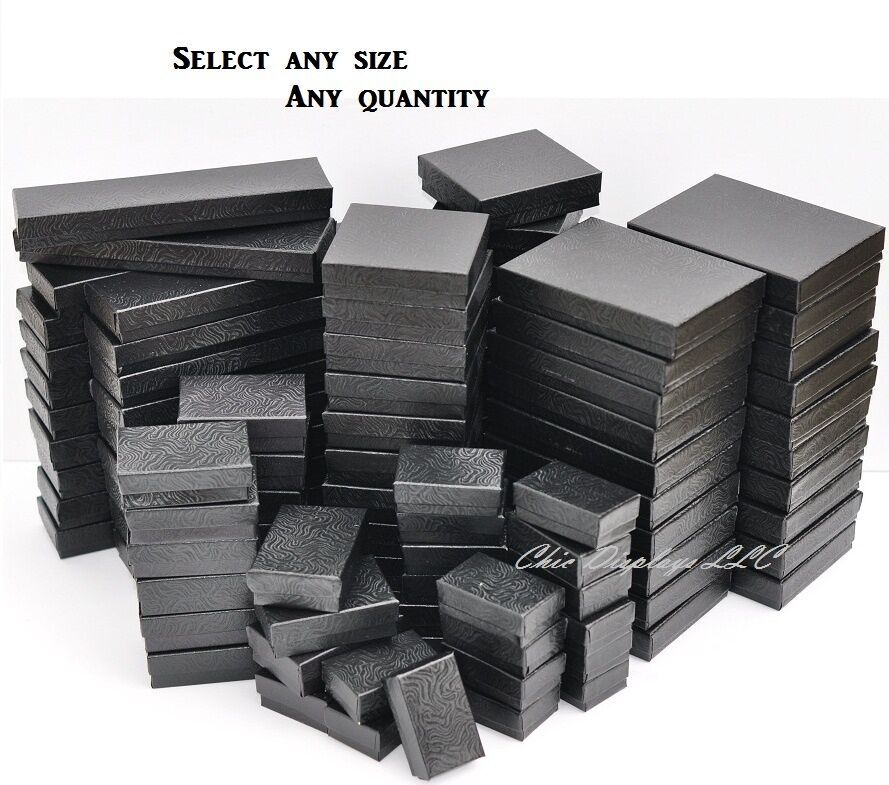 35+ Black cotton filled jewelry boxes info